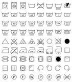 Laundry icons, washing symbols. Laundry icon set, washing signs for cloth Stock Photography