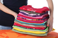 Laundry on ironing board Royalty Free Stock Photos