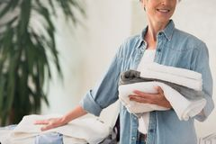 Laundry and ironing service concept royalty free stock photo