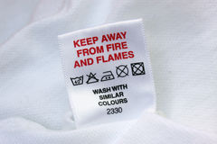 Laundry Label Stock Photo