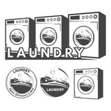 Laundry labels Stock Photo