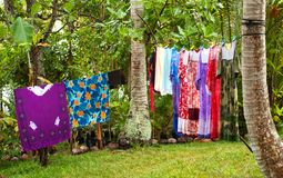 Laundry on the Line Royalty Free Stock Image