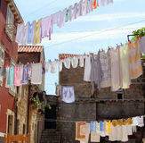 Laundry on the line Stock Image