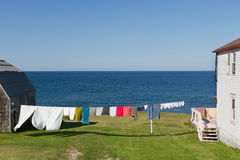 Laundry on a line Royalty Free Stock Photo