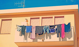 Laundry line Stock Photos