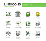 Laundry - line design icons set Royalty Free Stock Images