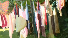 Laundry Line Time Lapse stock footage