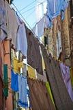 Laundry lines in Venice Stock Photo