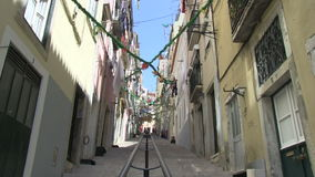 Laundry in Lisbon, Portugal stock footage