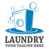 Laundry logo template design Stock Photos