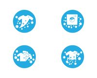 Laundry logo vector icon royalty free illustration