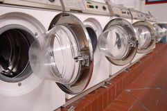 Laundry machines Stock Photography