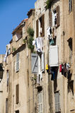 Laundry medieval architecture bonifacio Stock Photos