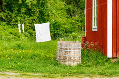 Laundry old time Stock Photos