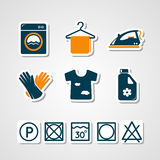 Laundry paper cut icons Royalty Free Stock Image