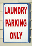 Laundry Parking Sign Royalty Free Stock Photography