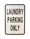 Laundry parking only sign Stock Photos