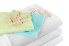 Laundry & Pegs Stock Photo