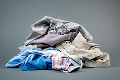 Laundry - Pile of Clothes stock image