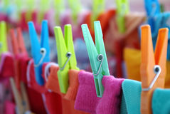 Laundry Pins Stock Images