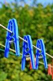 Laundry pins Royalty Free Stock Photo