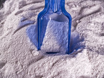Laundry powder. Conteiner with Laundry powder on the background royalty free stock photos