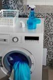 Laundry powder for washing Stock Image