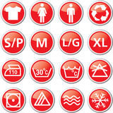 Laundry red icon set Stock Photography