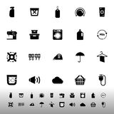 Laundry related icons on white background vector illustration