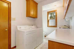 Laundry room in american house Stock Images