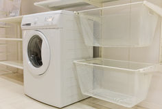 Laundry room equipment Royalty Free Stock Image