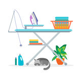 Laundry Room Equipment for Interior. Vector Stock Photos