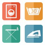 Laundry Room Icons Stock Photos