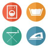 Laundry room icons Royalty Free Stock Photos