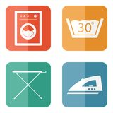 Laundry Room Icons Stock Image
