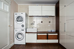 Laundry room interior Royalty Free Stock Photos