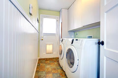 Laundry room interior Stock Photos