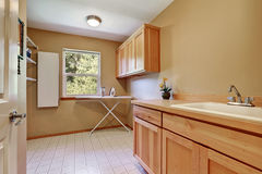 Laundry room interior with vanity cabinet Royalty Free Stock Photos