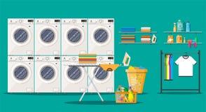 Free Laundry Room Interior With Washing Machine Stock Photography - 100551192
