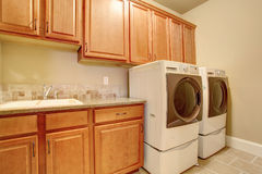Laundry room interior Royalty Free Stock Images