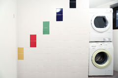 Laundry Room. With two washing machines royalty free stock photos