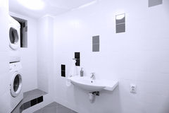 Laundry Room. With two washing machines royalty free stock photography