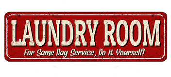 Laundry room  vintage metal sign Stock Images