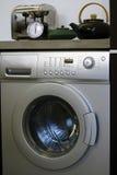 Laundry room xl. Interior of luxury laundry room with washing mashine Royalty Free Stock Photos