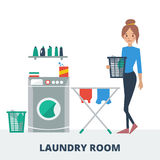 Laundry room Royalty Free Stock Photo