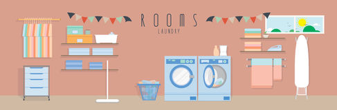 Laundry (Rooms). Vector illustration of a laundry vector illustration