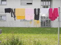 Laundry rope house Royalty Free Stock Photography