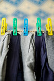 Laundry on a rope Royalty Free Stock Images