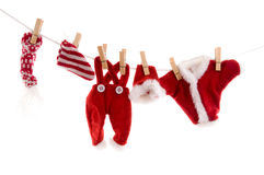 Laundry from Santa Claus stock image