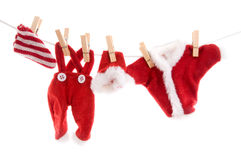 Laundry from Santa Claus Royalty Free Stock Photography